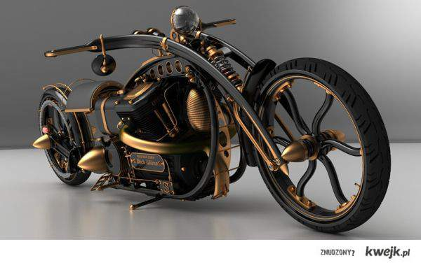 steampunkowy motor