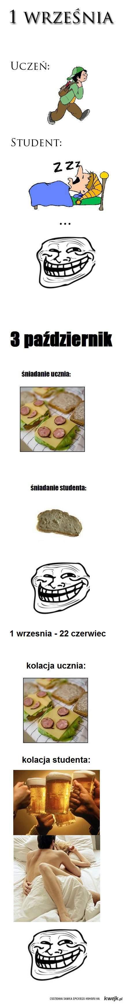 Uczeń vs student III