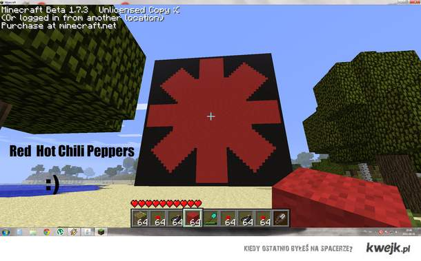 Minecraft Red Hot Chili Peppers logo