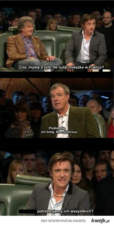 Hammond nie lubi Francuzów : )