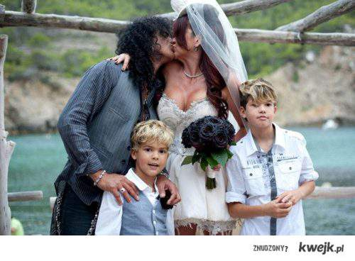 Slash with family