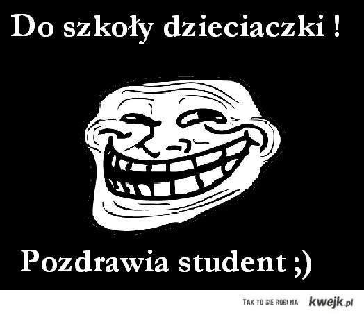 Do szkoły...