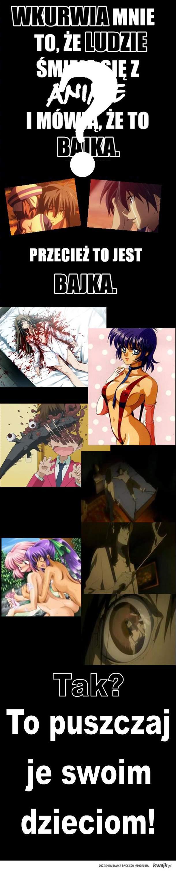 Anime = Bajka. Czy na pewno?