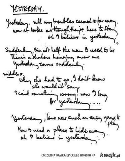 "Beatles - ""Yesterday"""