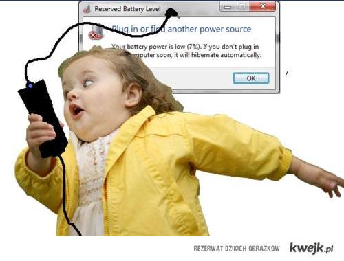 Kiedy pada bateria :D