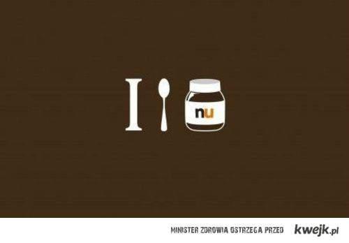 I EAT NUTELLA . ♥