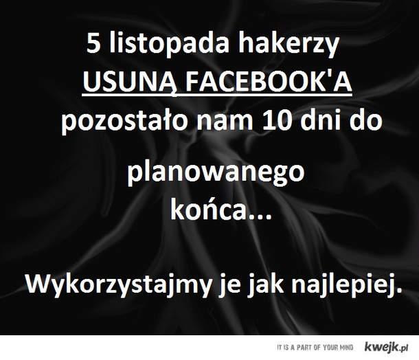 koniec z facebookiem