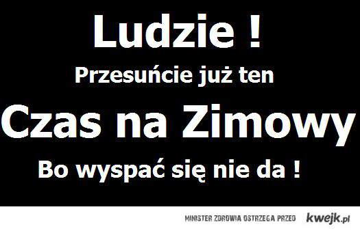 CZAS ZIMOWY !