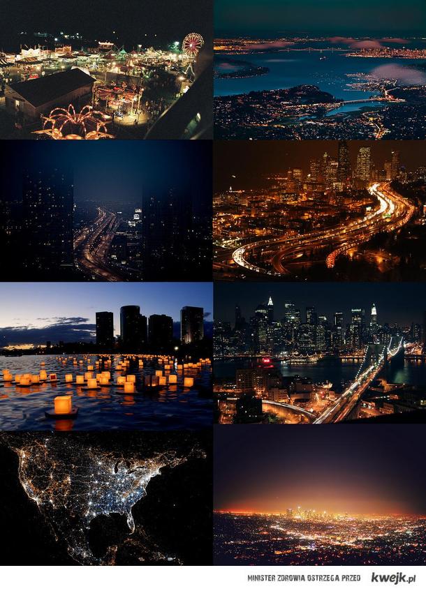 Miasta nocą.