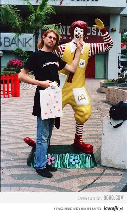 Kurt Cobain with clown
