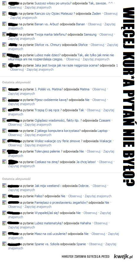 Ankiety - facebook