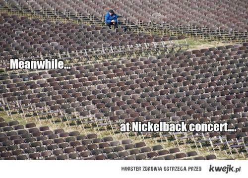 tymczasem na koncercie Nickelback