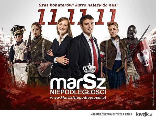 Pamiętajcie 11.11.11r. do Warszawy na Marsz niepodległości. Polskość naszą chlubą!