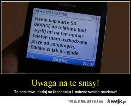 UWAGA na sms'y!