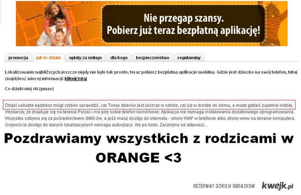 pozdrawiamy Waszych rodziców w orange
