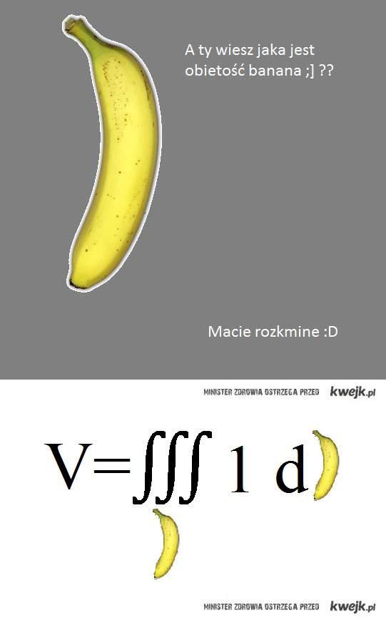 objętość banana