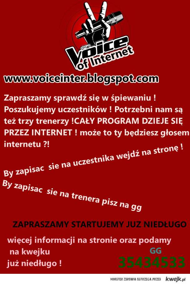 Zapraszam na Voice http://voiceinter.blogspot.com/