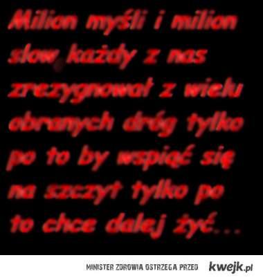 Milion myśli i milion slow...