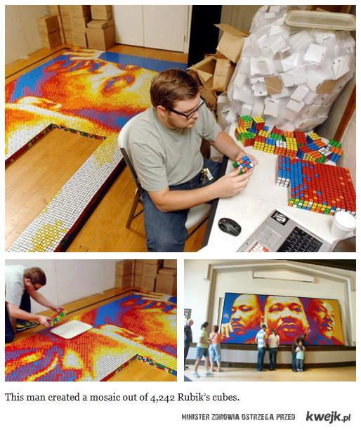 Mozaika z kostek Rubika