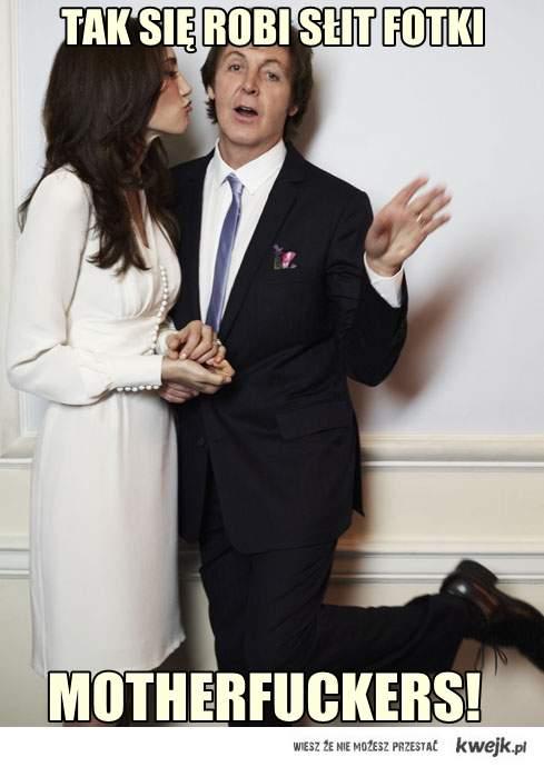 słit fotka Paul McCartney.
