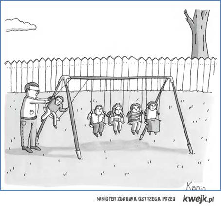 dzieci na huśtawkach