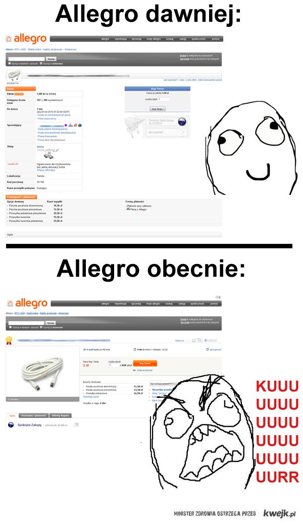 Allegro dawniej, Allegro obecnie