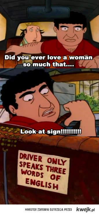 kierowca zna trzy słowa