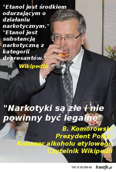 Prezydent o narkotykach