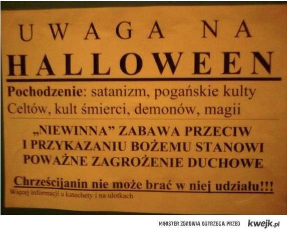 Uwaga na halloween!