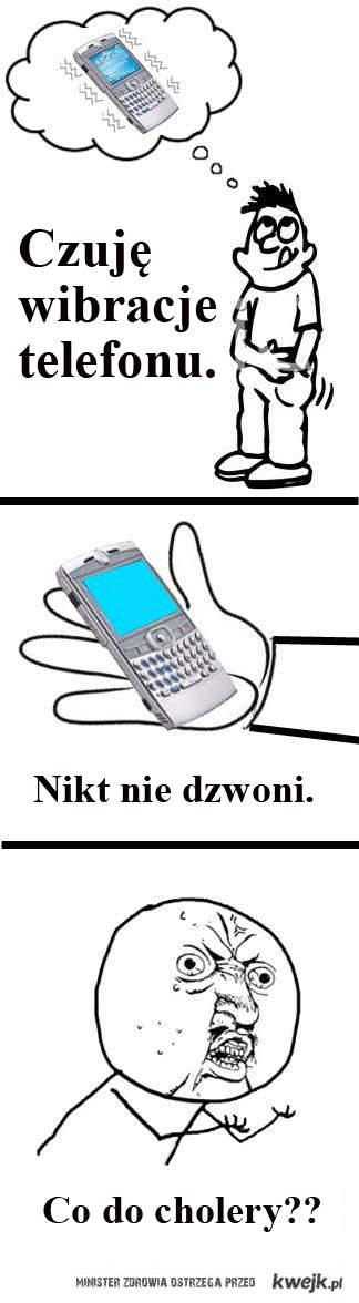 wibracje telefonu