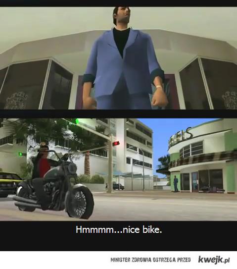 """Nice Bike"". Vice City"