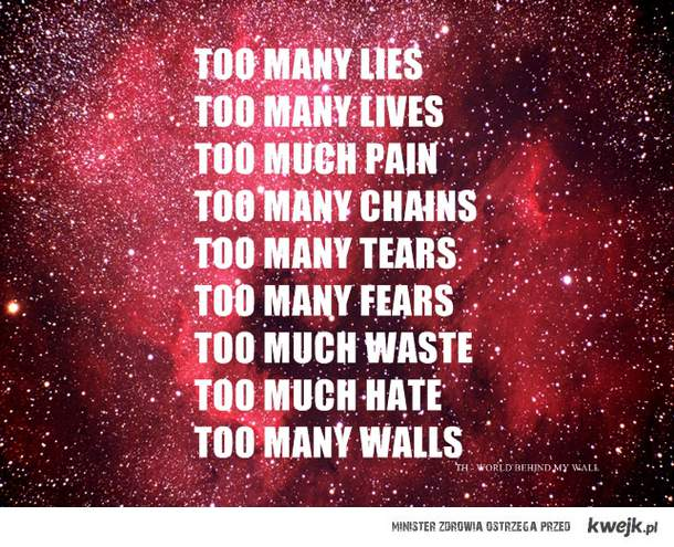 too many walls