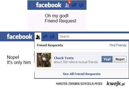 Chuck testa on FB