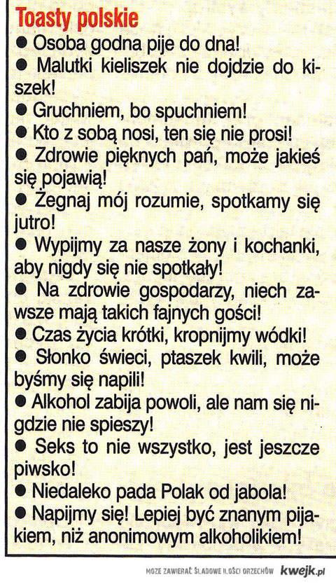 polskie toasty