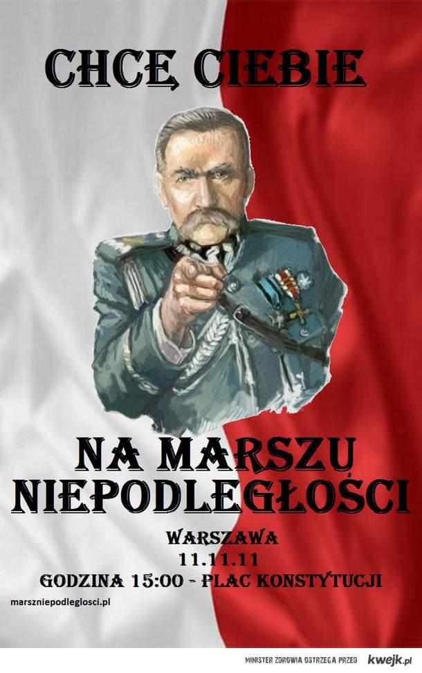 Chcę Ciebie na Marszu Niepodległości