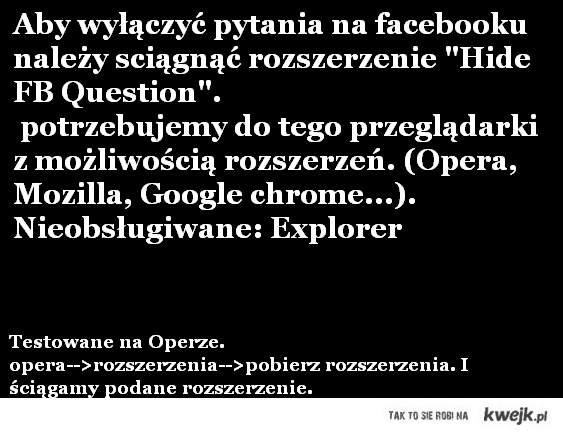 jak usunąć pytania z facebooka?