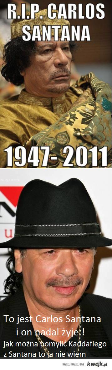 Carlos Santana nadal żyje