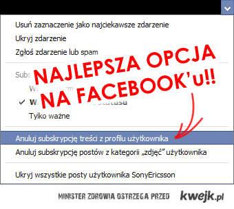 Najlepsza opcja na FB!