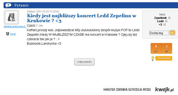 led zeppelin w Krakowie ;]