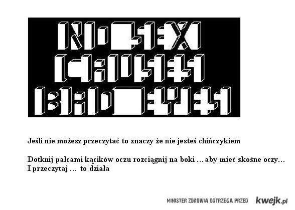 chińskie oczy