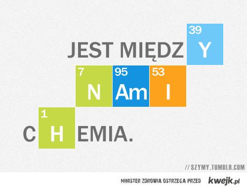 jest między nami chemia