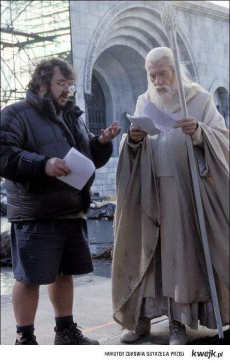 Gandalf reads script.