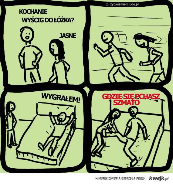 Wyścig do łóżka