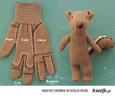 maskotka z rękawiczki