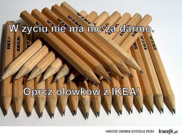 Ołówki z IKEA
