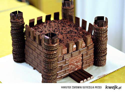 czekoladowy zamek