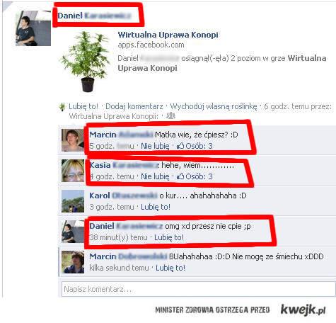 Riposta, Facebook