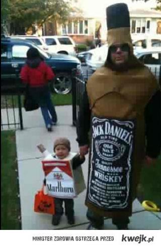 Przebranie taty i syna na halloween