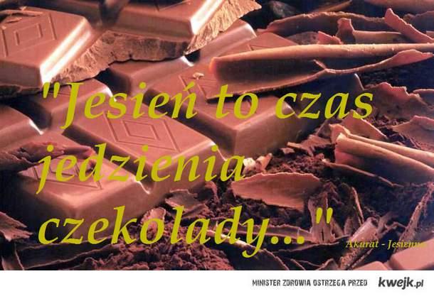 Jesień to czas jedzenia czekolady