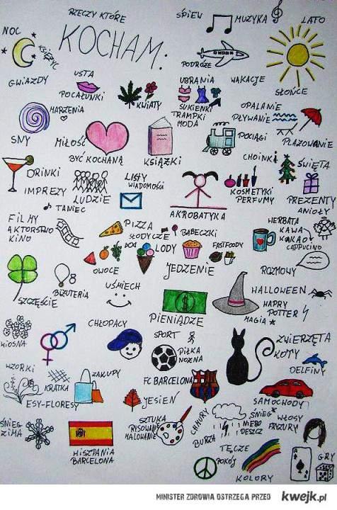 rzeczy które kocham